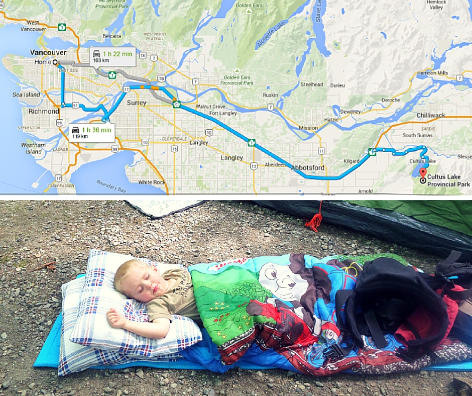 Cultus Lake Provincional Park - camping June 2015
