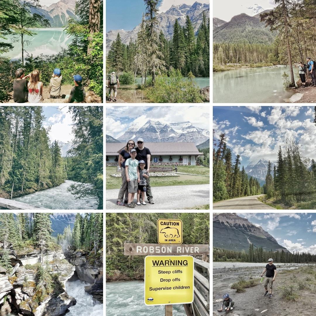 Rockies_Gory_Skaliste_2017_Kanada_sie_nada_blog_o_polskiej_rodzinie_w_Vancouver_i_emigracji_do_Kanady-collage zdjęć z Mount Robson